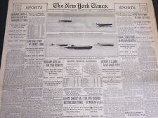 1930 AUGUST 17 NEW YORK TIMES SPORTS - JIM DANDY 100 TO 1 BEATS GALLANT- NT 7008