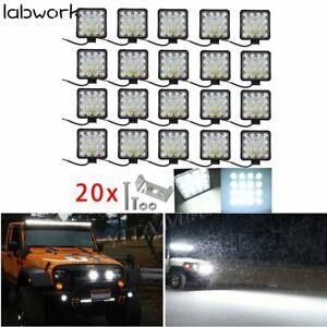 20X 12V 48W LED Work  SUV Boat Tractor /Spot Light Flood Light OffRoad Driving