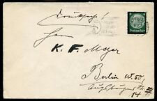 HINDENBURG 6pf MOURNING ISSUE on COVER - TELEPHONE SLOGAN CANCEL
