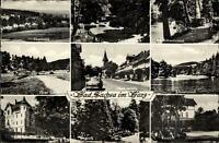 Bad Sachsa Mehrbildkarte ~1950/60 Panorama Marktstraße Haus Bismarck Kurpark u.a