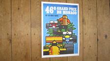 Monaco Grand Prix F1 1988 Repro POSTER
