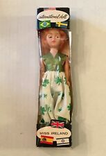 Miss Ireland Irish International Doll Shamrock Dress Vintage in Box