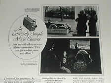 1930 KODAK advertisement, Kodak movie camera, Cine-Kodak, lady driver