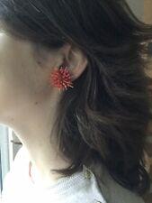 Boucles d'Oreilles en Corail à Clips Anciennes Vintage Coral Clip Earring