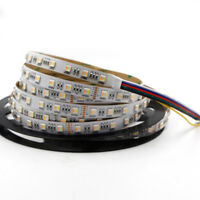 5m RGBW RGB CCT led Strip Light 5in1 Dual Color Temperature Dimmable 5050 lamp