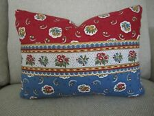 Pierre Deux Pillow Red Rouge & Blue Avignonet French Country Toile Fleur