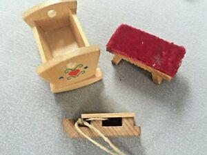 Altes Puppenhaus Zubehör, Holz