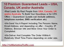 10+ Premium Real Leads USA, Canada, UK and/or Australia