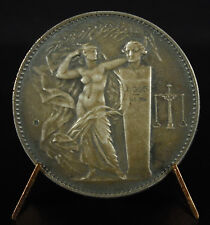 Medaill in argento d busto Antonio Lavoisier industria chimico 1928 silver medal