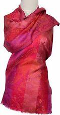 Pashmina Schal scarf 100% Seide, silk soie foulard écharpe Pink Orange Rot Red