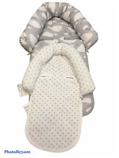Go By Goldbug Set of 2 Infant Headrest For Carseat - Gray Clouds and Stars