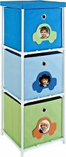 Altra Furniture 3-Bin Kids Storage Unit with Car Theme