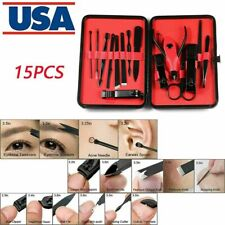 15Pcs Manicure Pedicure Set Nail Clippers Remover Callus Kit Hand Foot Care Usa