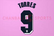 Torres #9 2011-2012 Chelsea UEFA Champions League Awaykit Nameset Printing