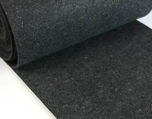 Filz Stoff Bastelfilz standfest 3-4mm stark Anthrazit meliert (EUR 7,98/m)