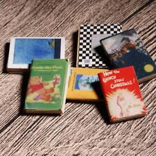 6 Bücher 1:12 Puppenhausszenen Studie Zubehör feinComic-Bücher F0X1