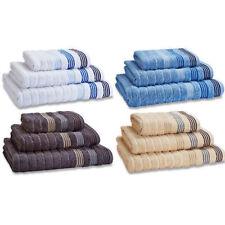 Catherine Lansfield Garrat Stripe Luxurious 100% Cotton Towels