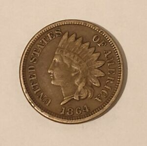 1864 USA ONE CENT INDIAN HEAD COIN SCARCE/RARE  #2