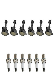 6 Ignition Coils & Spark Plugs replacement for 2002-2004 Infiniti I35 3.5L