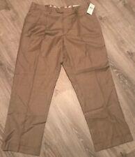 NWT Polo Ralph Lauren Wool Dress Pants 36W x 29L Tan Houndstooth Plaid Pleated