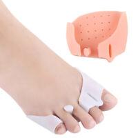 1Pair Silicone Toe Separator Hallux Valgus Straightener Foot Care Front .FR