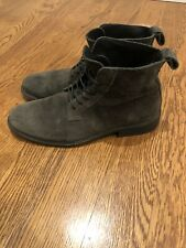 Allsaints Trent Lace Up Suede Boots   Charcoal Grey   Size 43 US 10