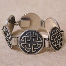 "Mexican Sterling Silver Link Bracelet 7 1/4""."