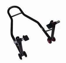 MOTORCYCLE MOTORBIKE BIKE REAR PADDOCK STAND WITH RUBBER FLATS,