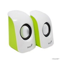 Genius SP-U115 Stereo USB Powered Speakers White for Desktop Computer Laptop