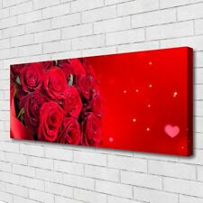 Leinwand-Bilder Wandbild Canvas Kunstdruck 125x50 Rosen Pflanzen