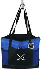Field Hockey Sticks & Sports Game Ball Monogram Bag Blue Gemline Zip Tote Gift