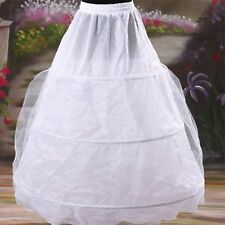 3 Hoop 2 Layer BRIDAL WEDDING DRESS PROM PETTICOAT UNDERSKIRT CRINOLINE Skirt