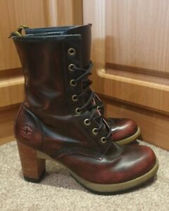 Dr Martens Darcie Red Rub Off Leather UK 6 EUR 39