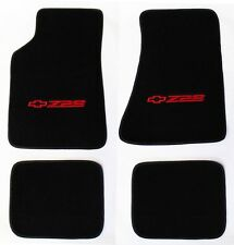 NEW! Carpet Floor Mats 1982 - 2002 Camaro Z28 Embroidered Logo in Red 4 pc Set