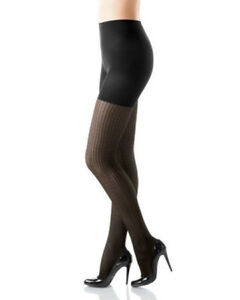 SPANX Tight-End Tights Style 1827, Size A, Coil Stripe, Black New in package