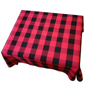 Buffalo Check Country Style Plaid Tablecloth for Picnic & Party