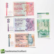 HONG KONG: Set of 4 Standard Chartered Bank Dollar Banknotes.