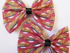 BAZINGA! Red Handmade Hair Bow TBBT Geeky Hair Accessory