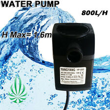 800L Per Hour Water Pump Hmax 1.6m Hydroponics Aquarium Water Feature Fountain