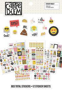 Simple Stories Carpe Diem Emoji Love Collection Sticker Tablet 8024  2017