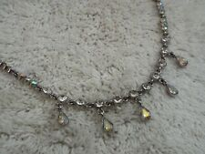 Silvertone AB Rhinestone Necklace (D65)