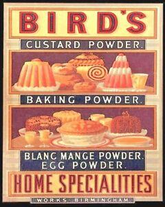 Birds Custard Powder Home Specialities large steel sign 410mm x 300mm  (hb)
