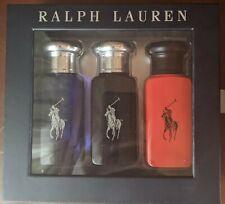 Ralph Lauren Polo Men's Gift Pack Blue 30ml, Red 30ml & Black 30ml EDT Spray