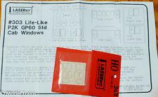 American Model Builders HO #303 Life-Like P2K GP60 Std Cab Windows