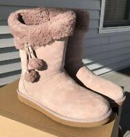 UGG PLUMDALE CUFF SHORT Dust Pink Women's Size 7 New