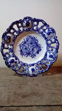 Handmade Blue And White Wall Hanging Plate/Plaque.The Vestal Pottery, Portugal