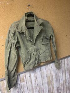 vintage hbt jacket rare s size 13 star buttons distressed twill herringbone ww2