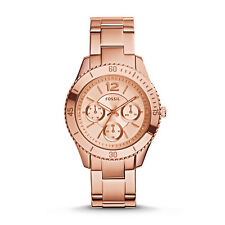 Fossil 38mm Stella Multifunction Rose Gold-Tone Ladies Watch ES3815 BRAND NEW!