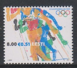 Estonia - 2006, Winter Olympic Games, Turin stamp - V/L/M - SG 508