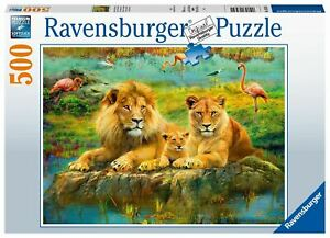 Ravensburger - Lions in the Savannah 500pc - Jigsaw Puzzle